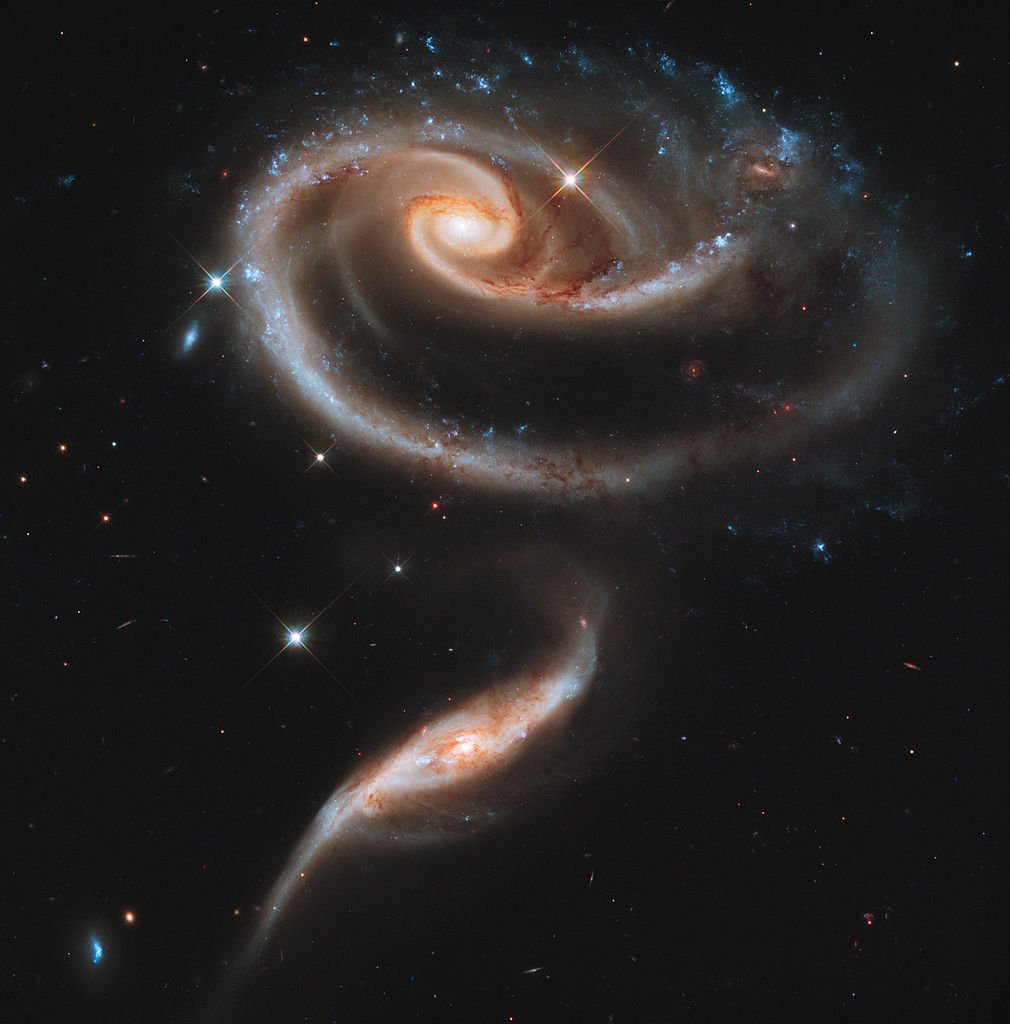 UGC 1810 and UGC 1813 in Arp 273 captured by the Hubble Space Telescope